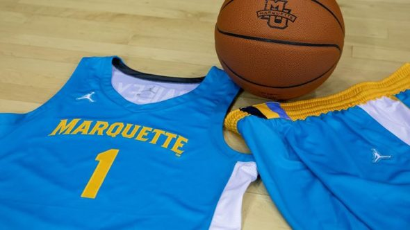 Marquette Golden Eagles Reveal Turquoise Nike N7 Uniforms - SportsLogos.Net News