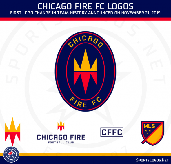 Mls Chicago Fire Fc Reveal Disappointing New Logo Chris