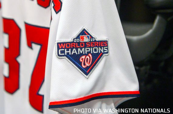 Nationals Add World Champs Patch to Jersey