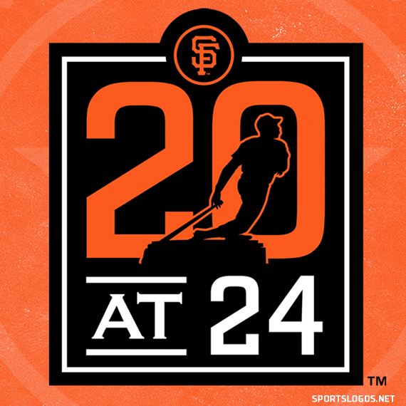 "SF Giants Wearing ""20 At 24"" Uniform Patch in 2020"