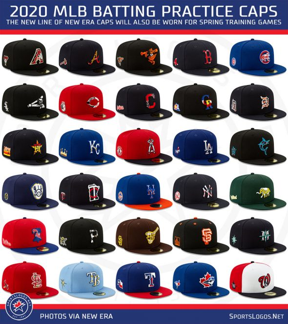 release date really cheap save off 2020 MLB Batting Practice and Spring Training New Era Caps ...