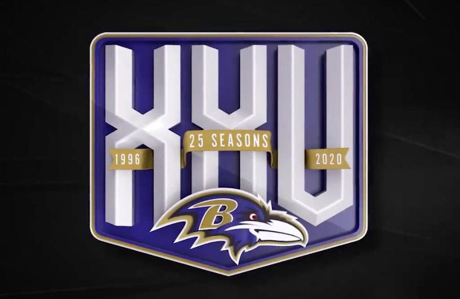 Baltimore Ravens Unveil 25th Season Logo