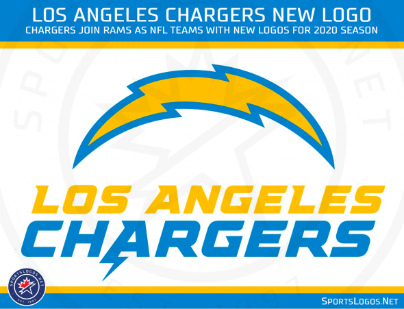 See the Los Angeles Chargers' new bolt logo