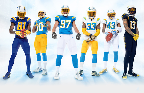 Los Angeles Chargers Unveil New Uniforms