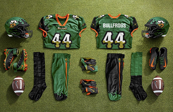 Defunct Arena League Toledo Bullfrogs Unveil Unused Uniforms