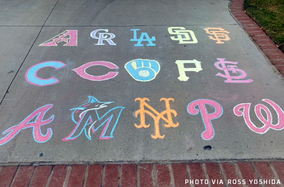 Incredible Sidewalk Chalk Art: All Major League Baseball Logos