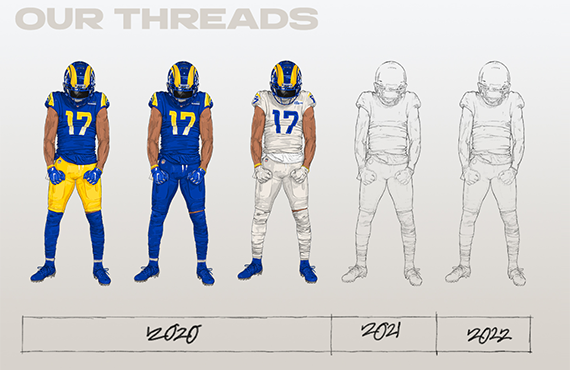 Los Angeles Rams Tease Alternate Uniforms In 2021, 2022