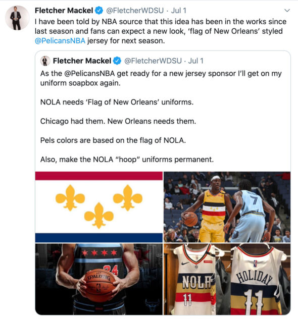 Pelicans To Wear Flag Inspired Uniform In 2021 Sportslogos Net News