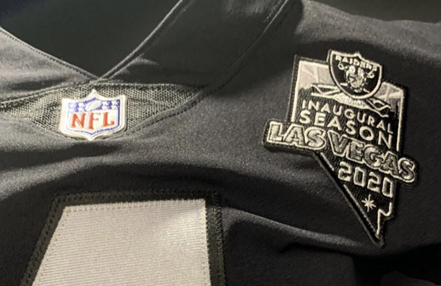 Raiders Add Uniform Patch For Inaugural Season In Las Vegas