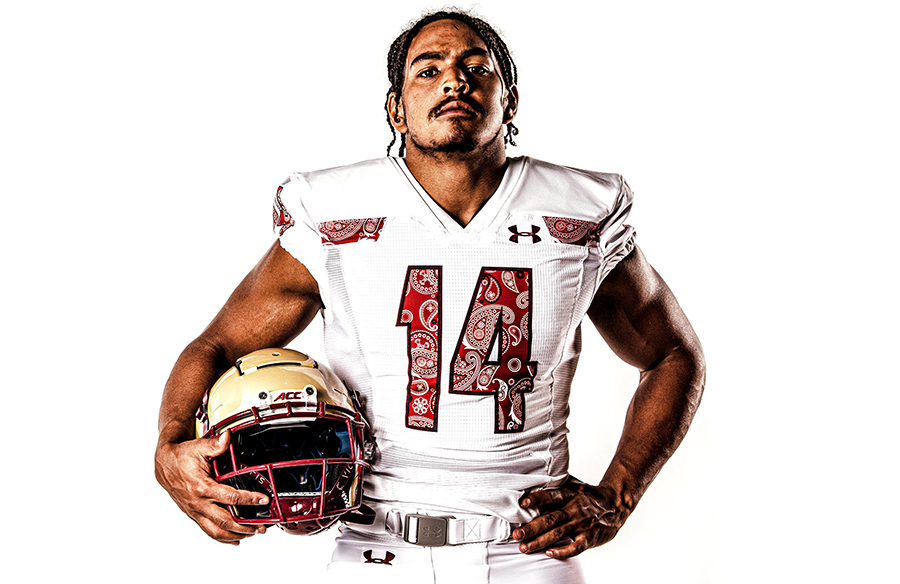 Boston College Eagles Reveal New Red Bandana Alternate Uniforms