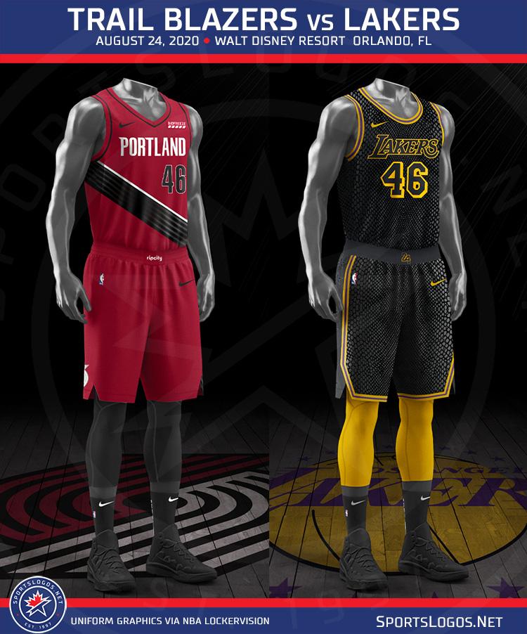 Confirmed Lakers To Wear Kobe Bryant Tribute Uniform On August 24 Sportslogos Net News