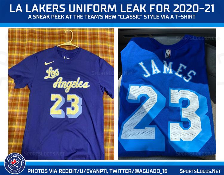 "Photos of LA Lakers New ""Classic"" Jersey for 2021 Leaks ..."