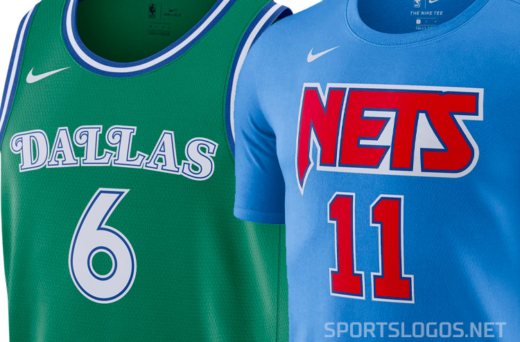 Mavs Green, Nets Tie-Dyes Highlight NBA's Throwback Jerseys in 2021