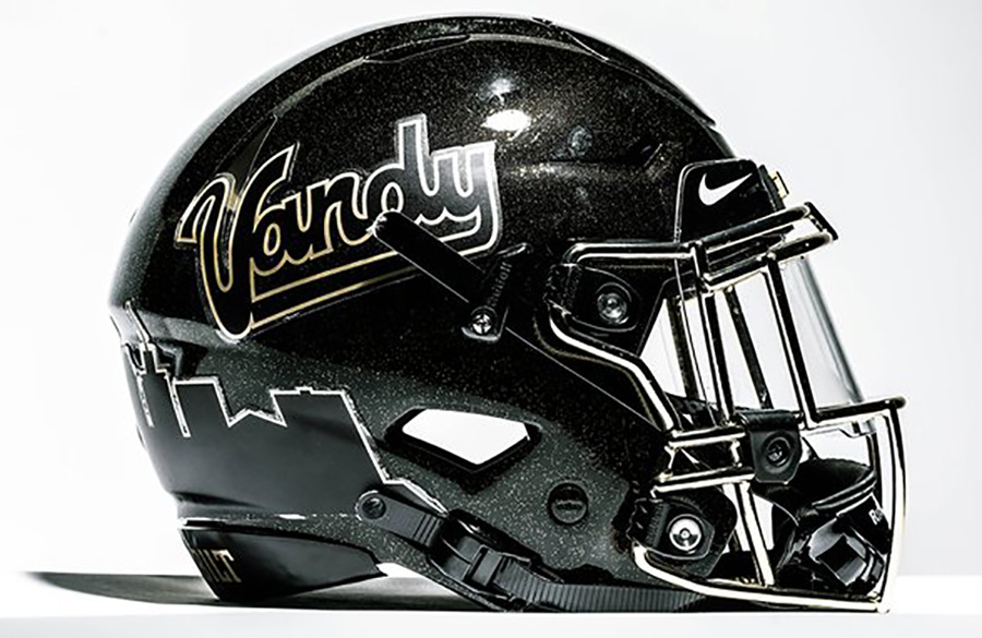 Vanderbilt Commodores Unveil Alternate Helmet With Vintage Script Logo, Nashville Skyline