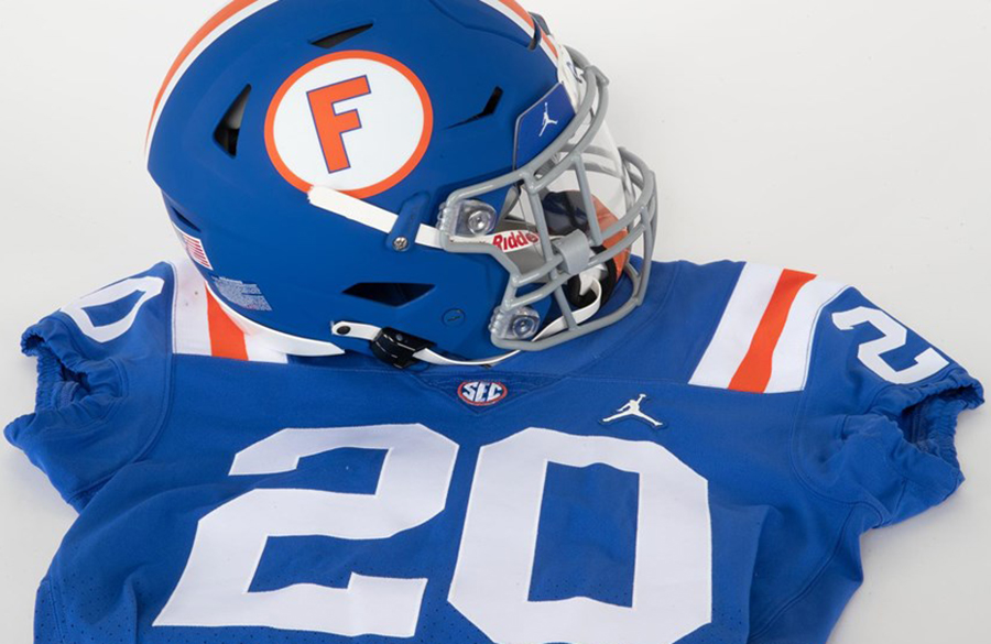 Florida To Wear Blue Helmets With 1960s Throwback Uniforms Against Missouri