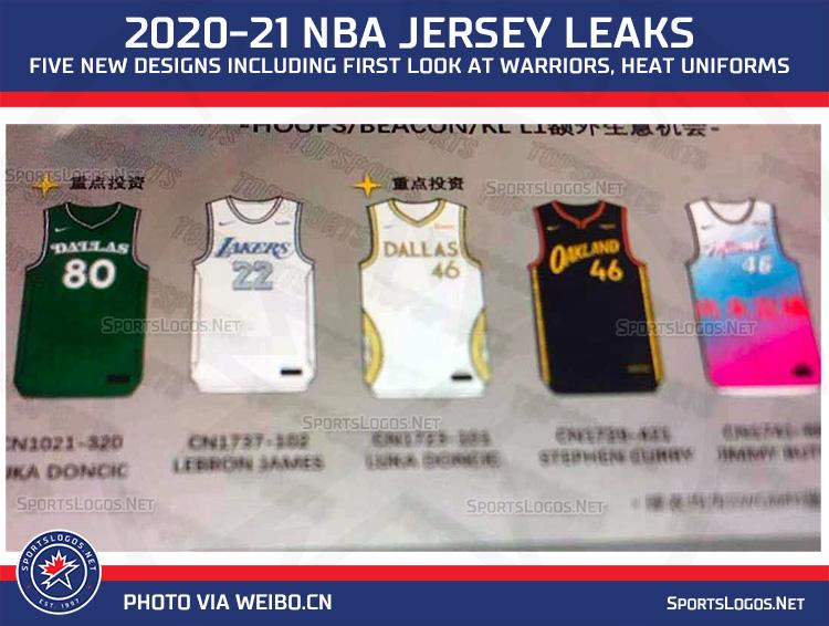 Heat, Warriors Latest New 2021 NBA Jerseys Leaked ...