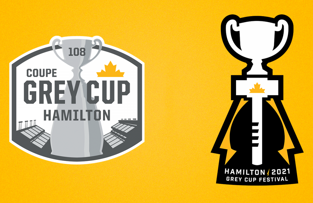 Hamilton Tiger-Cats Unveil 108th Grey Cup And 2021 Grey Cup Festival Logos