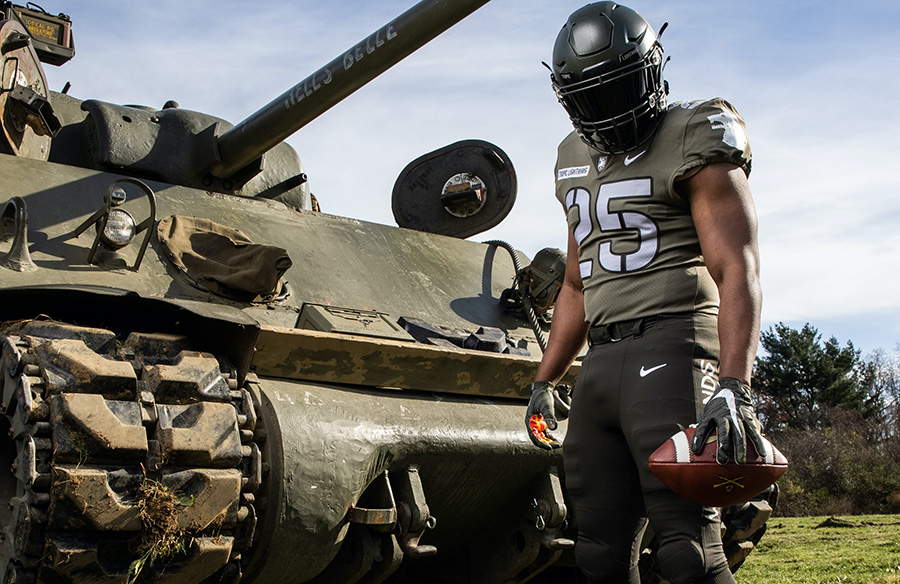 "Army Black Knights Unveil ""Tropic Lightning"" Uniforms For Navy Game"