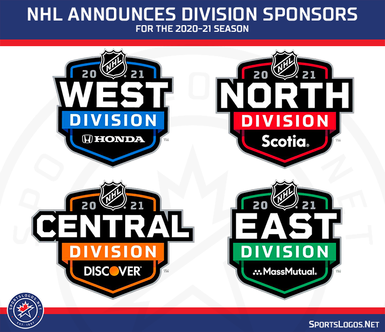 NHL Reveals Logos, Sponsors for their Realigned Divisions