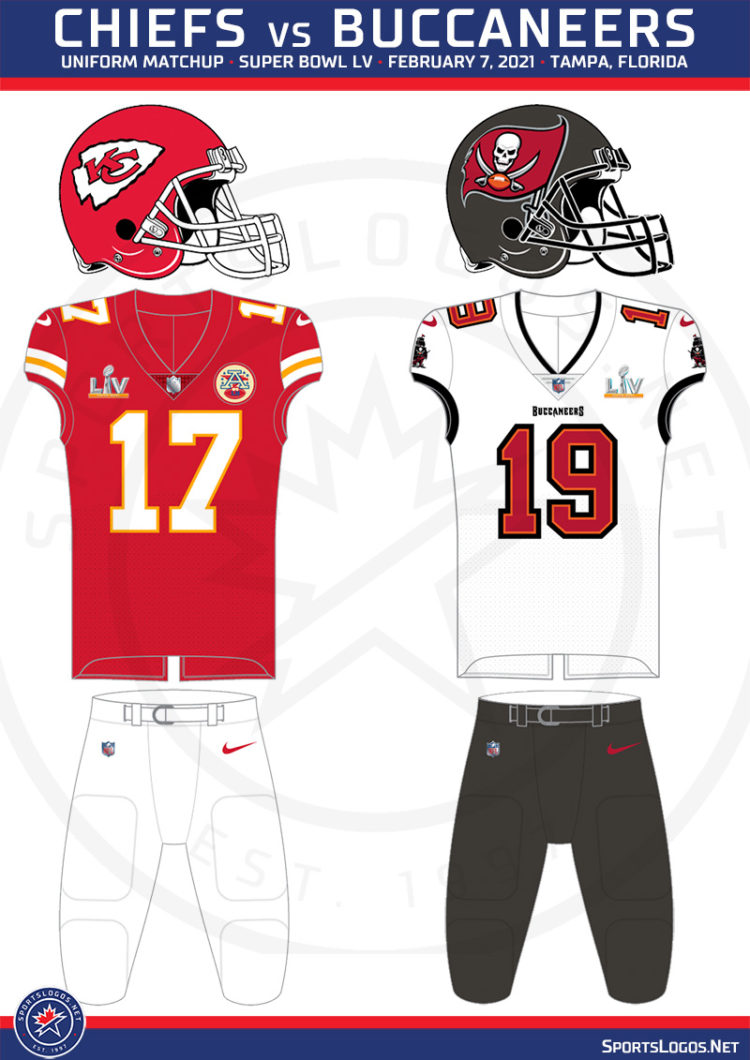 What Uniforms Will Be Worn in Super Bowl LV: Chiefs vs Buccaneers ...