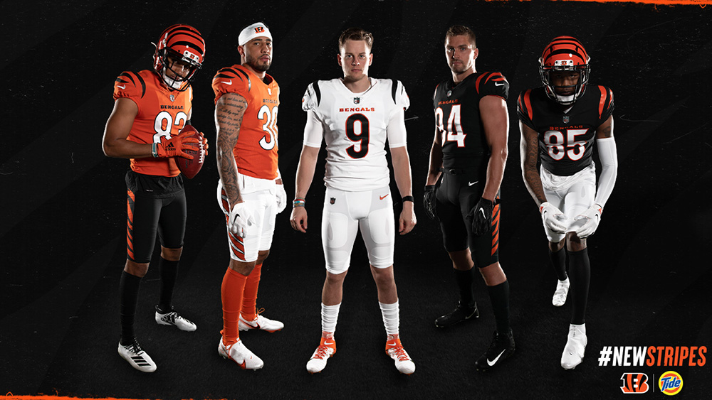 Cincinnati Bengals Unveil New Uniforms