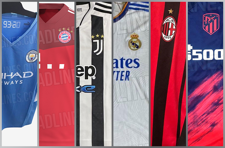 Photos of 2021-22 Jerseys for Big European Clubs Leak Online