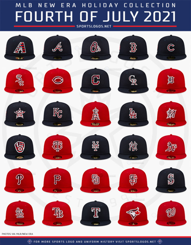 This image has an empty alt attribute; its file name is 2021-mlb-fourth-of-july-independence-day-stars-and-stripes-caps-all-teams-holiday-collection-baseball-2021-sportslogosnet-all-teams-750x962.jpg