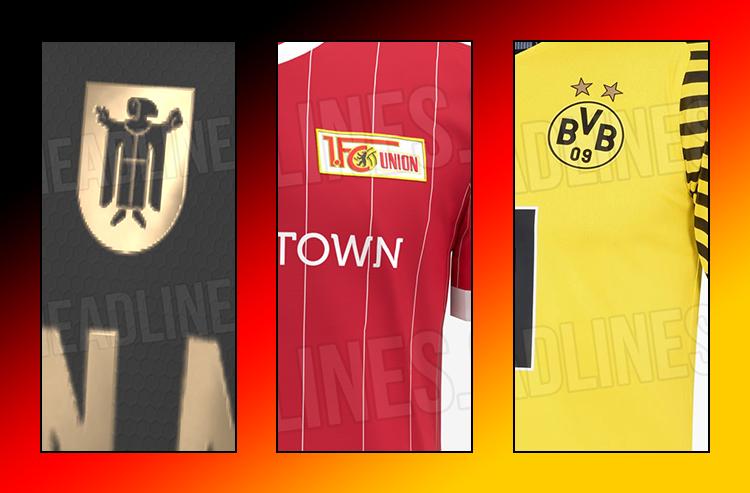 Trio of German Club Jerseys for 2021-22 Leak Online