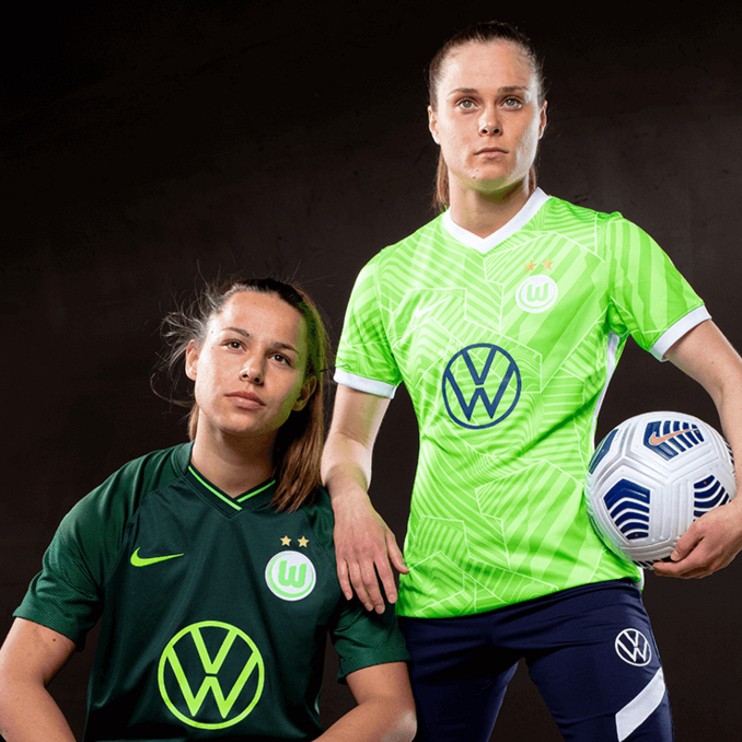 Night Moves: VfL Wolfsburg Shifts Into Dark Mode with 2021-22 Home and Away Kits
