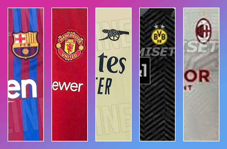 Leaked Photos Give Sneak Peek at 2021-22 Jerseys for Major European Soccer Clubs