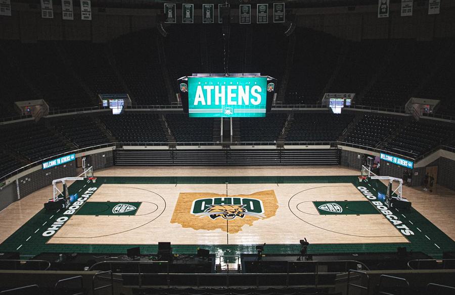 Ohio Bobcats Unveil New Basketball Court Design