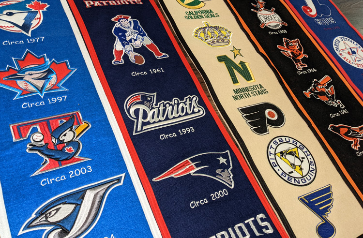 Winning Streak Sports Heritage Banners — a Trip Through Time to Hang on Your Wall