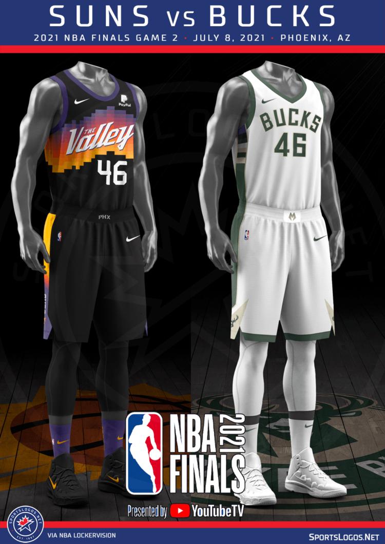 Uniform Matchups Set For 2021 Nba Finals Between Bucks And Suns Sportslogos Net News