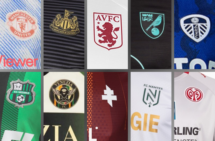 10 European Football Clubs — Including 5 from England — Unveil New Kits for 2021-22