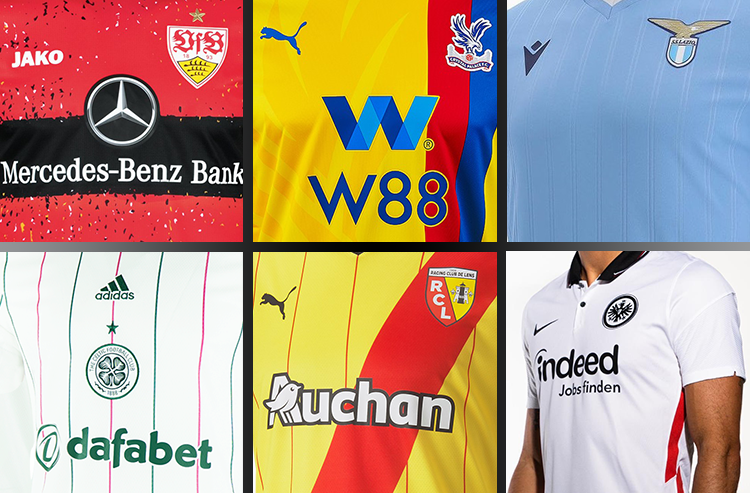 New Kits for 2021-22 Season Pour in from Around Europe