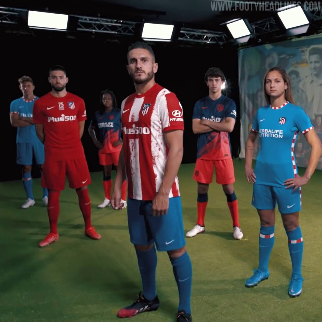 Atletico Madrid Offer Up Four New Shirts to Commemorate 75 Years with Current Name