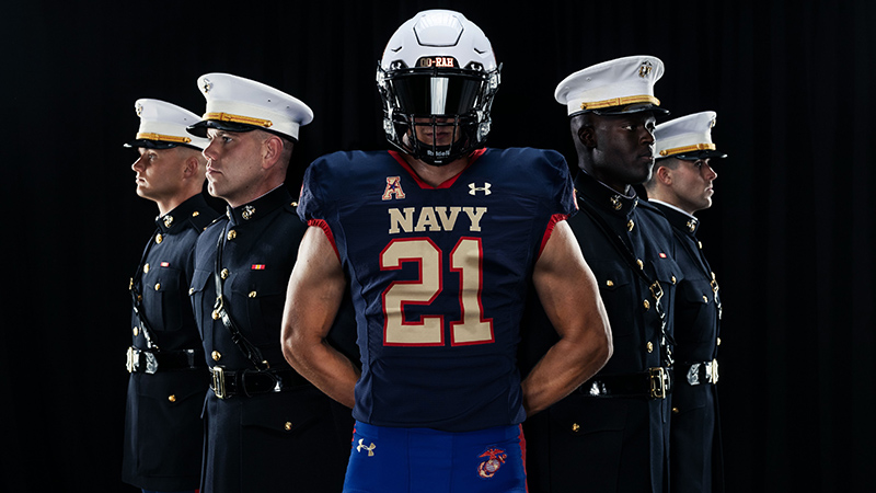 Navy Unveils Marine Corps-Inspired Uniform For Air Force Game