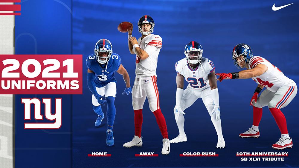 New York Giants To Wear Super Bowl XLVI Uniforms, New White Pants In 2021