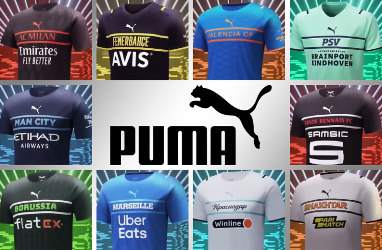 Puma Unveils 10 New Third Kits for Clubs Across Europe Using Unconventional Template