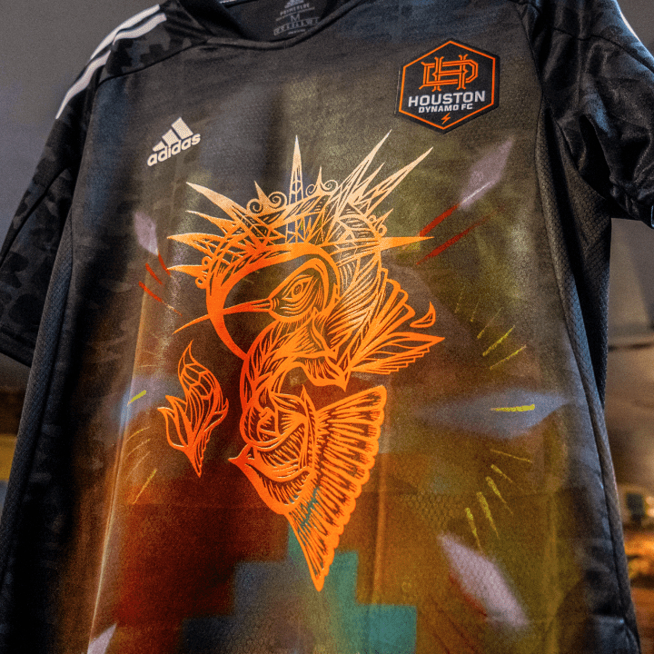 Houston Dynamo Mark Hispanic Heritage Month with Special Training Jersey Designed by Local Artist