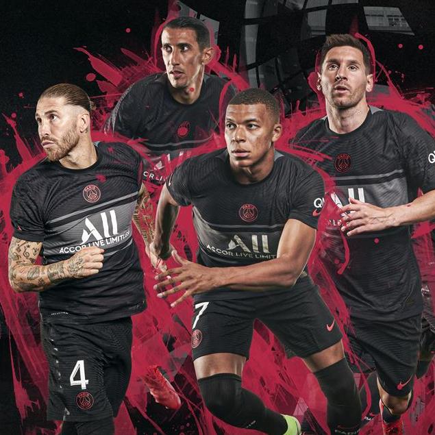 Paris Saint-Germain Activates Dark Mode for 2021-22 Third Kit