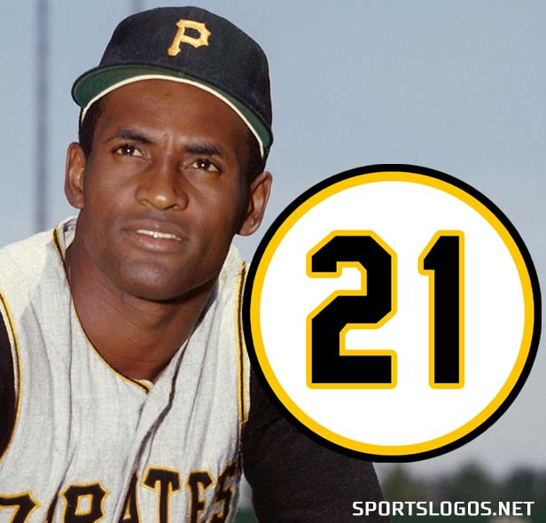 """Baseball Celebrates Clemente with """"21"""" Patches; Pirates and Award Winners All Wearing #21"""