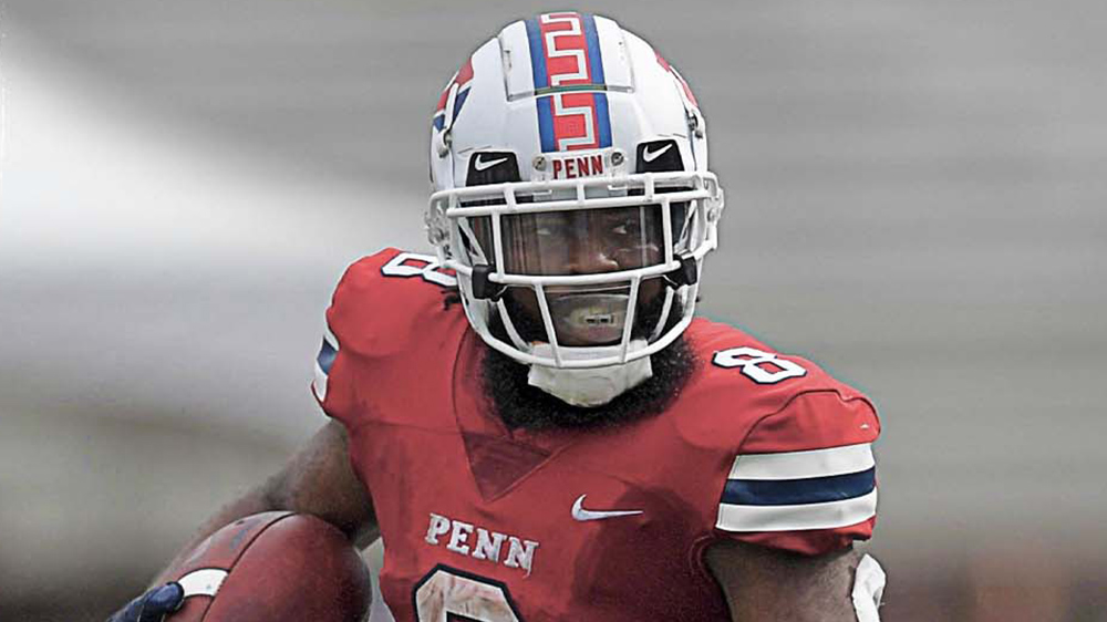 Penn Quakers Wear New White Helmet Design With Locust Walk Stripe