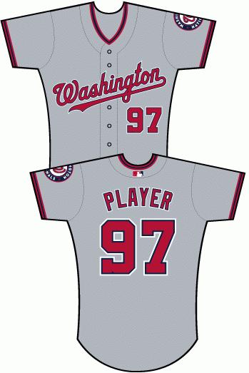 Uniforms worn for Washington Nationals